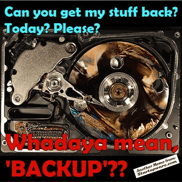 Backup My Burnt Hard Drive