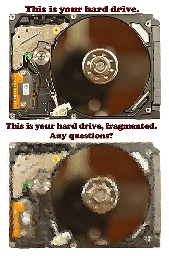 hard drive fragmentation
