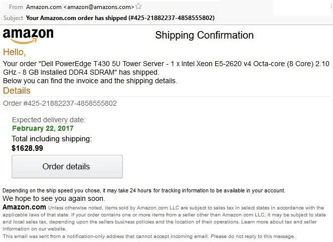 Fake Amazon Order