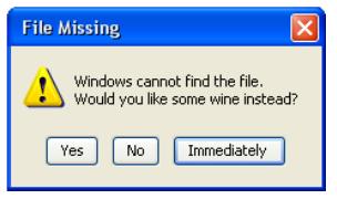Wine Error